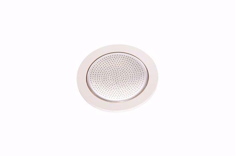 Afbeeldingen van Bialetti ringen 3 stuks + 1 filterplaatje Inductie  4 kops